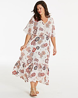 72d3bc14998cef Crinkle Pom Pom Maxi Dress