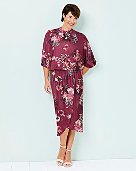 Kimono Dress with Wrap Skirt