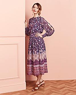 Split Sleeve Midi Dress