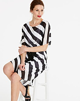 Drop Sleeve Stripe Dress
