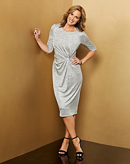 Shimmer Jersey Twist Knot Dress