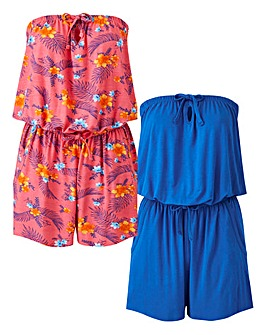 Pack of 2 Playsuits