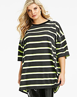 Lasula Oversized Neon Tshirt Dress