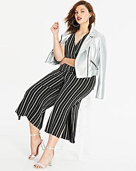 Stripe Side Split Jumpsuit