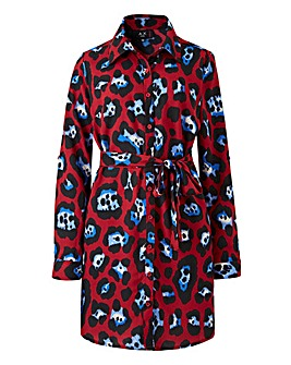 AX Paris Curve Leopard Shirt Dress.