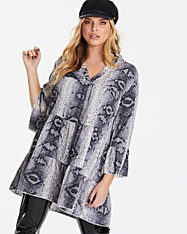 AX Paris Snakeskin Print Shift Dress