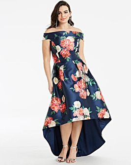 Chi Chi London Floral Bardot Dress
