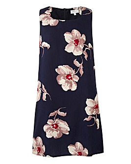Apricot Floral Printed Shift Dress
