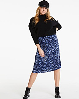 Quiz Curve Leopard Printed Pleat Skirt