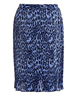 Quiz Curve Leopard Printed Pleat Skirt