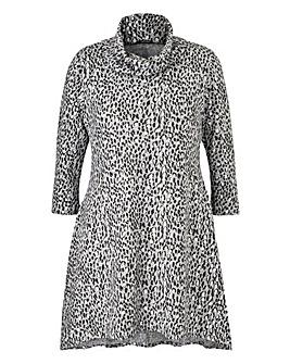Quiz Curve Leopard Print Knit Jumper