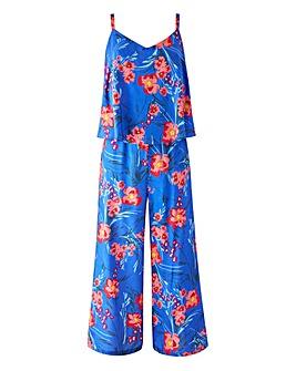 Layered Culotte Jumpsuit