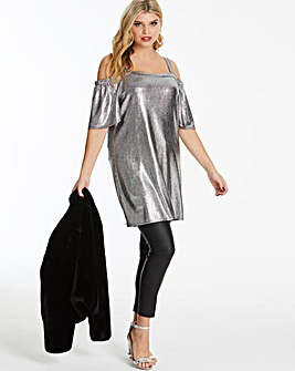 Quiz Curve Silver Lonling Tunic