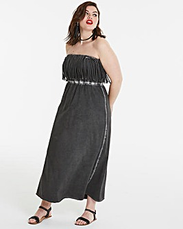 Fringe Bandeau Dress