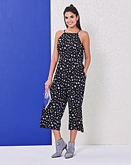 Foil Star Print Jumpsuit