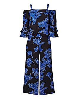 Bardot Culotte Frill Sleeve Jumpsuit