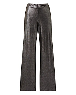 Pink Clove Metallic Wide Leg Trousers
