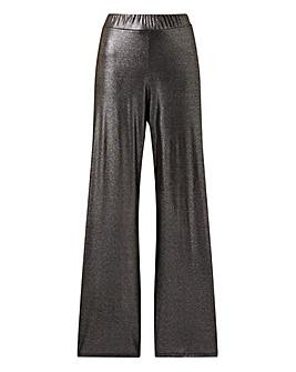 Pink Clove Metallic Wide Leg Trousers