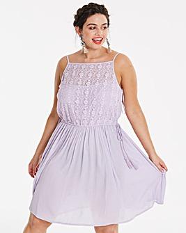 Lilac Tassel Skater Dress