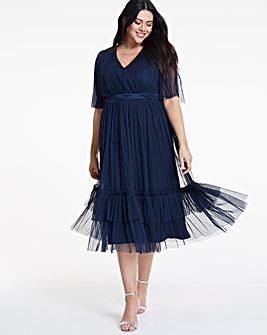 72f48eb7450 Anaya V neck kimono sleeve midi dress