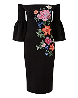 Petite Placement Print Dress