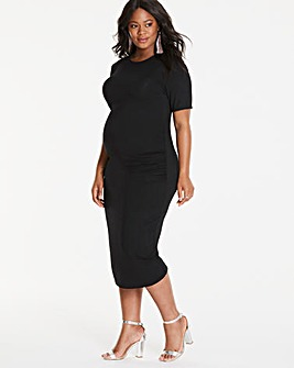 Maternity Bodycon Midi Dress