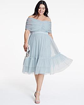 Anaya ribbon detail bardot maxi dress