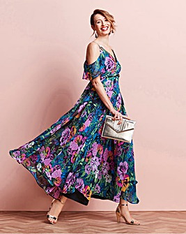 Bead Tassel Trim Maxi Dress
