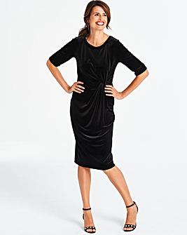 Velvet Twist Knot Dress