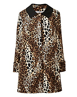 Helen Berman Swing Coat Contrast Collar
