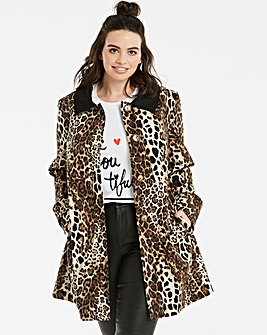 Helene Berman Swing Coat Contrast Collar
