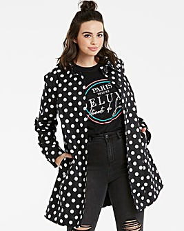 Helene Berman Spot Swing Coat