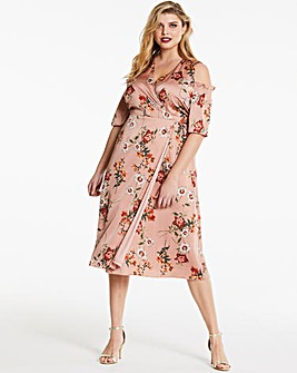 Lovedrobe Printed Wrap Midi Dress