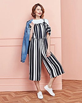 Stripe Culotte Bardot Jumpsuit