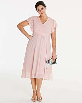 Angel Sleeve Bridesmaid Skater Dress