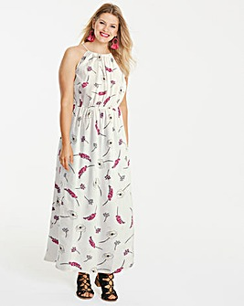Print Floral Halterneck Maxi Dress