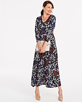 Floral Jersey Maxi Dress