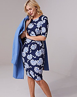 Blue Floral Twist Knot Dress