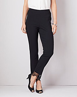 Julipa Stretch Jegging with Lace Trim