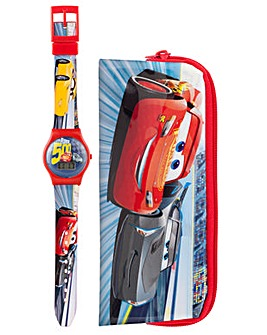 Disney Cars 3 LCD Watch and Case Set