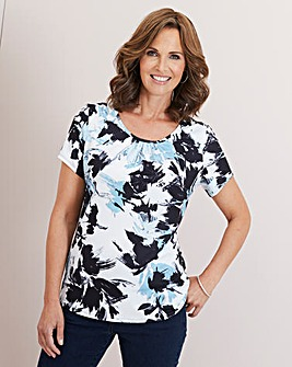 Julipa Duck Egg Floral T Shirt