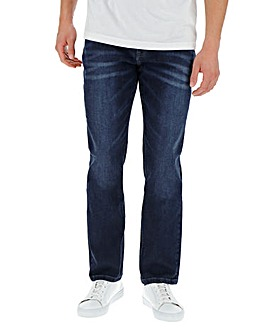 Original Penguin Dark Indigo Wash Straight Jeans