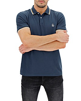 Original Penguin Tipped Collar Pique Short Sleeve Polo Long