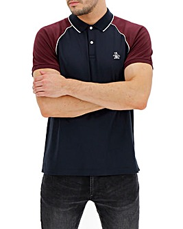 Original Penguin Raglan Jersey Short Sleeve Polo
