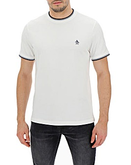 Original Penguin Contrast Tipping Ringer Tee Long