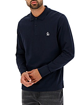Original Penguin Raised Rib Long Sleeve Polo Long