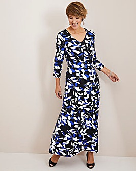 Julipa Blue Floral Jersey Maxi Dress