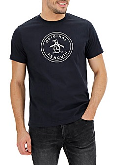 Original Penguin Circle Logo Tee Long