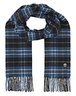 Timberland Embroidered Plaid Scarf