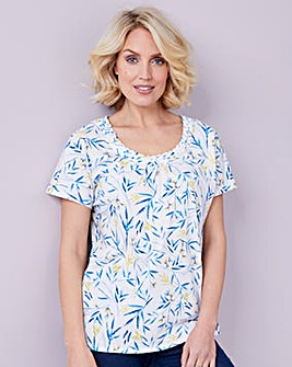 Julipa Print Jersey Top With Detail